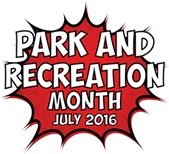 Park and Recreation Month July 2016 logo
