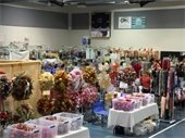 Vendor booths set up at the Holiday Bazaar