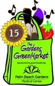 Gardens GreenMarket logo with the number 15 in the flower