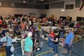 People shopping at the Gardens Indoor Yard Sale