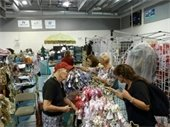 Women shopping at the Annual Holiday Bazaar