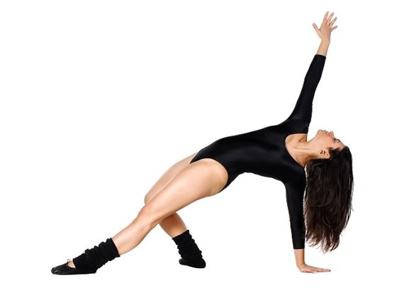 A teen girl in a jazz dance pose