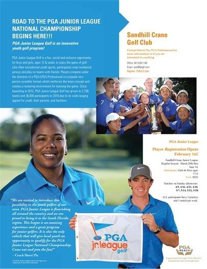 PGA Junior League Golf flier